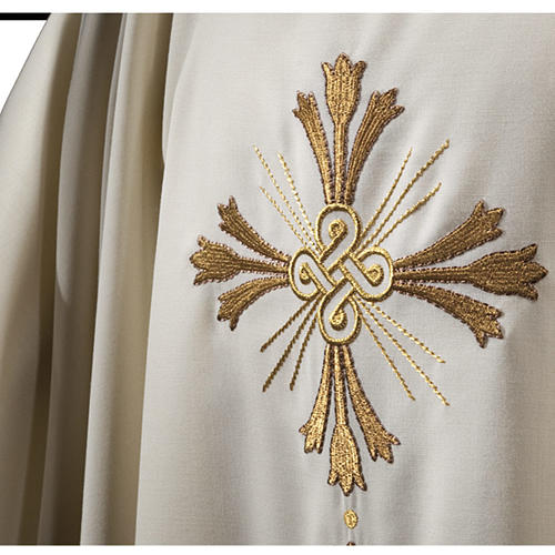 Chasuble in pure wool, cross and lily  2