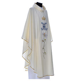 Chasuble mariale pure laine s2