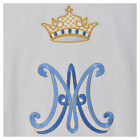 Chasuble mariale pure laine s4