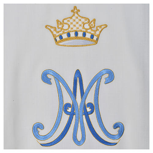 Chasuble mariale pure laine 4