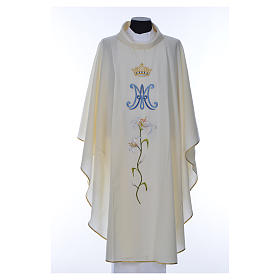 Marian chasuble in pure wool s8