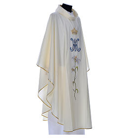 Marian chasuble in pure wool s9