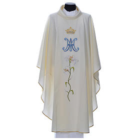 Marian chasuble in pure wool s1