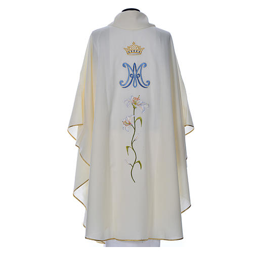Marian chasuble in pure wool 3