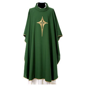 Chasubles: Chasuble in 100% polyester with stylised cross