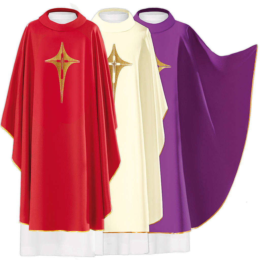 Chasuble croix stylisée 100% polyester 4