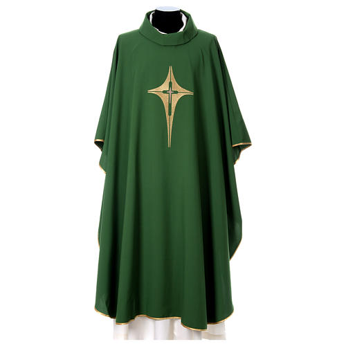 Chasuble croix stylisée 100% polyester 1