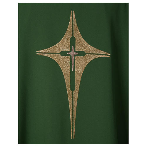 Chasuble croix stylisée 100% polyester 2
