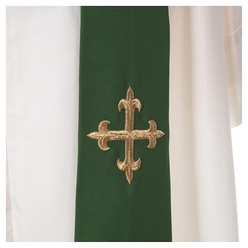 Chasuble croix stylisée 100% polyester 5