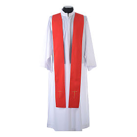 Chasuble in 80% polyester 20% wool, IHS, grapes and wheat embroi s11