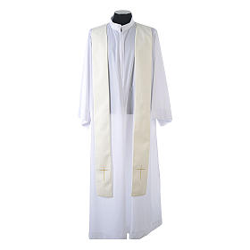 Chasuble in 80% polyester 20% wool, IHS, grapes and wheat embroi s12