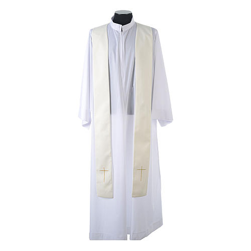 Chasuble in 80% polyester 20% wool, IHS, grapes and wheat embroi 12