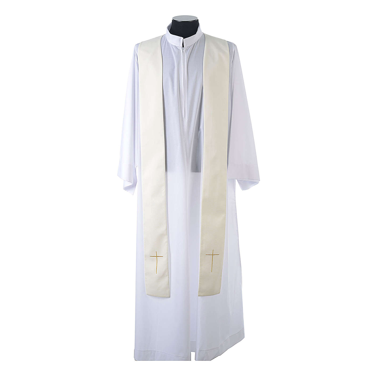 Monastic Chasuble in 80% polyester 20% wool, IHS, grapes and wheat embroidery 4