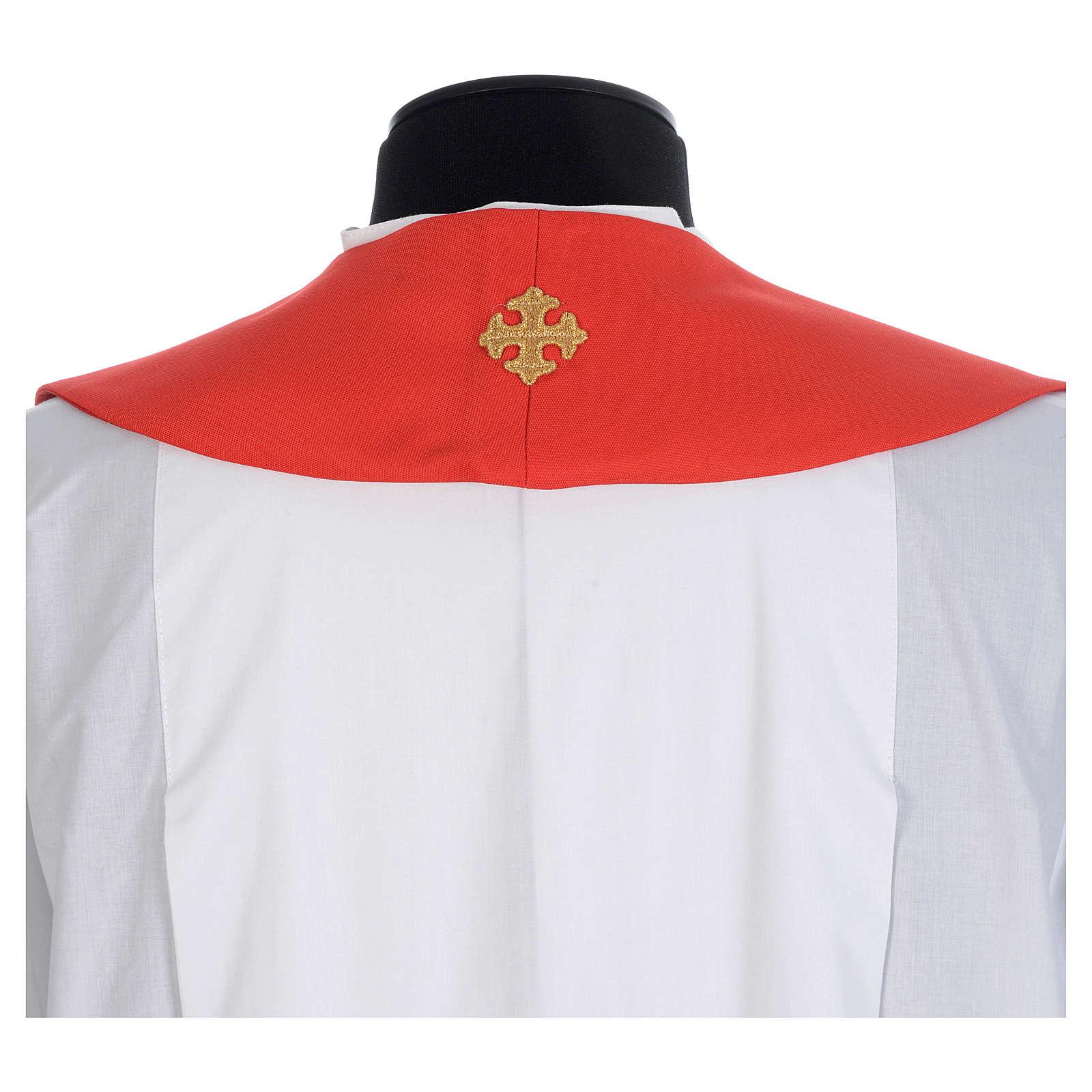 Chasuble 100% polyester croix et fils dorés 4
