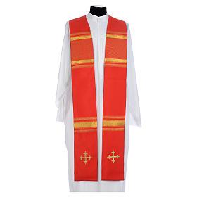 Chasuble 100% polyester croix et fils dorés s1