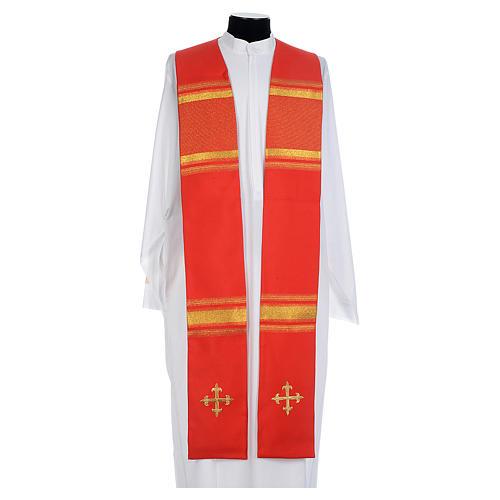 Chasuble 100% polyester croix et fils dorés 5