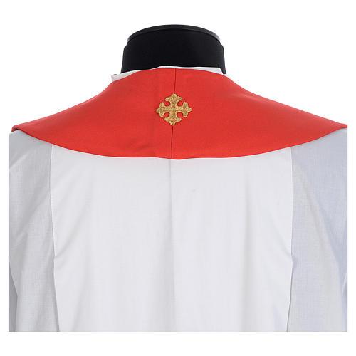 Chasuble 100% polyester croix et fils dorés 6
