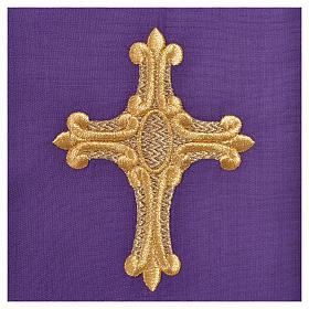 Chasuble 20% laine  80% polyester IHS, décor sur col et bords s15