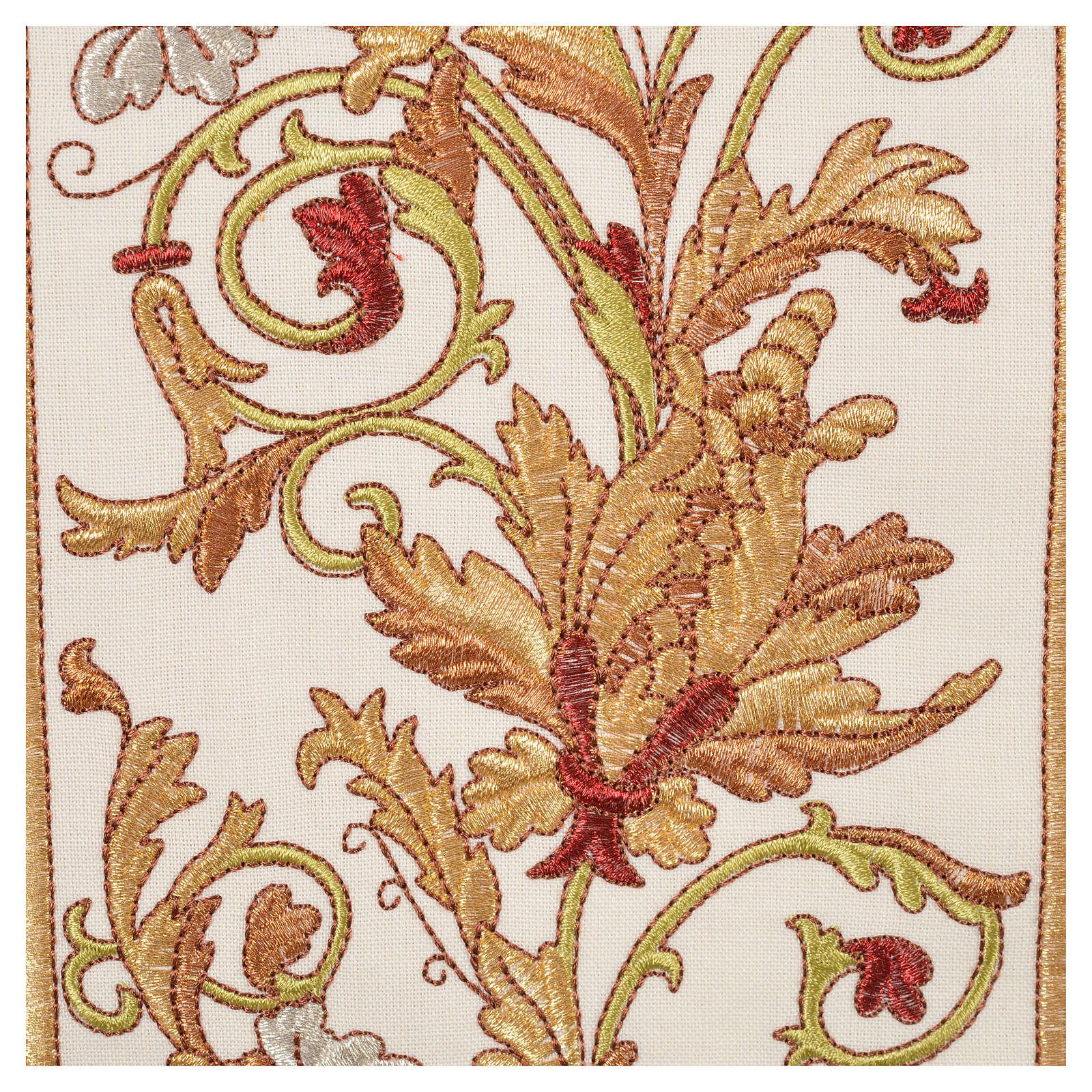Casulla 100% lana IHS, decoraciones espigas uva 4