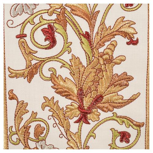 Casulla 100% lana IHS, decoraciones espigas uva 8
