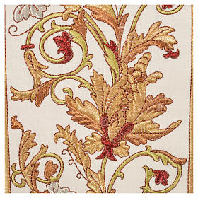 Chasuble in 100% wool, IHS, ears of wheat embroidery s8