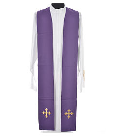 Chasuble in 100% wool, IHS, ears of wheat embroidery s15
