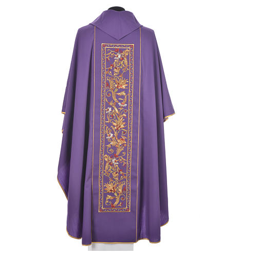 Chasuble in 100% wool, IHS, ears of wheat embroidery 9