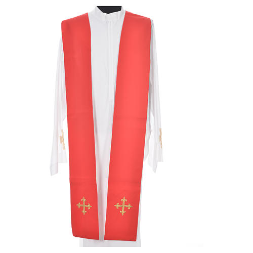 Chasuble in 100% wool, IHS, ears of wheat embroidery 12