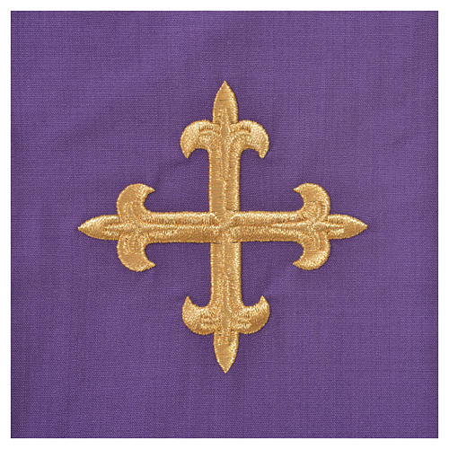 Chasuble in 100% wool, IHS, ears of wheat embroidery 16