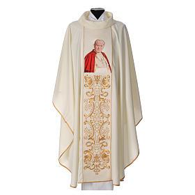 Casula 80% poliestere 20% lana Giovanni Paolo II s1