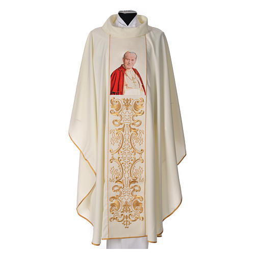 Casula 80% poliestere 20% lana Giovanni Paolo II 1