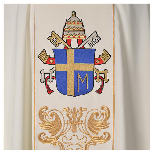 Casula 80% poliestere 20% lana Giovanni Paolo II 3