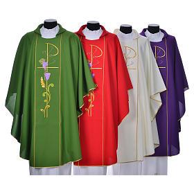 Casule: Casula sacerdotale 100% poliestere XP uva spighe