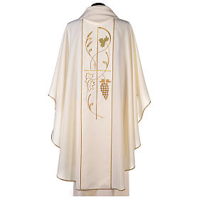 Chasuble in 100% polyester, ears of wheat, grapes s4