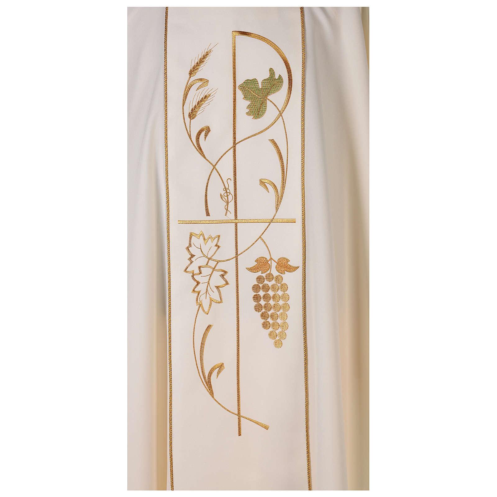 Chasuble liturgique 100% polyester épis raisins 4