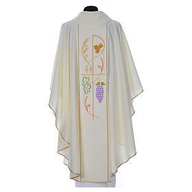 Casula sacerdotale 100% poliestere spighe uva s5