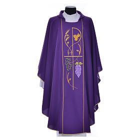 Casula sacerdotale 100% poliestere spighe uva s6