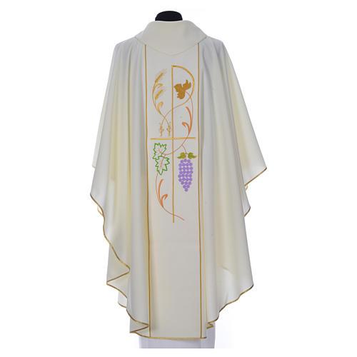 Casula sacerdotale 100% poliestere spighe uva 5