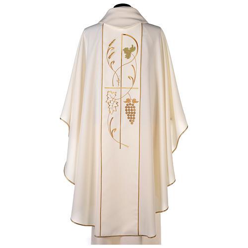 Casula sacerdote 100% poliéster trigo uva 4