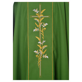 Chasuble in 100% polyester, cross, lily s3