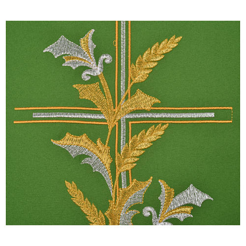 Chasuble in 100% polyester, cross, lily 4