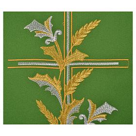 Chasuble liturgique 100% polyester croix lys s4
