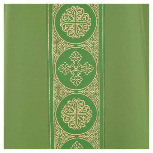 Chasuble 100% polyester golden crosses embellishment 7