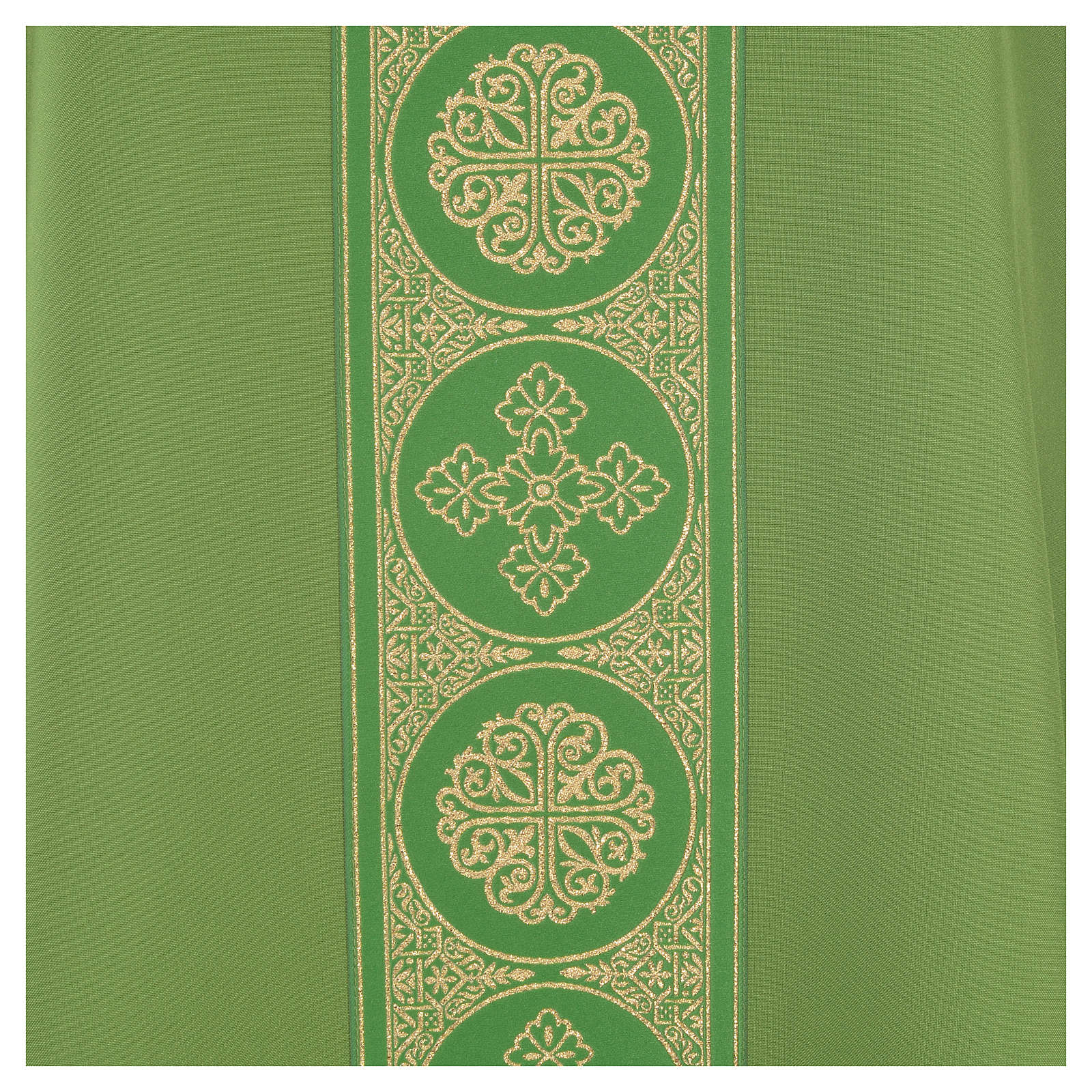 Chasuble 100% polyester décors croix dorées 4