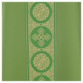 Liturgical Chasuble 100% polyester golden crosses embellishment s7
