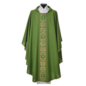 Chasubles: Chasuble 100% polyester golden embellishments