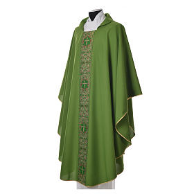 Chasuble 100% polyester golden embellishments s2