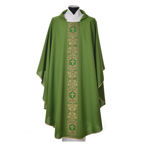 Chasuble 100% polyester golden embellishments 1