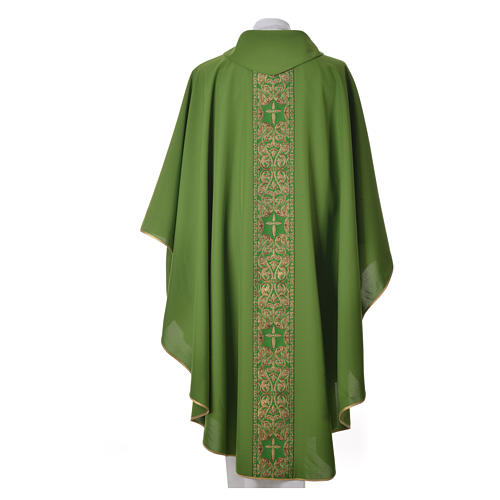 Chasuble 100% polyester golden embellishments 3