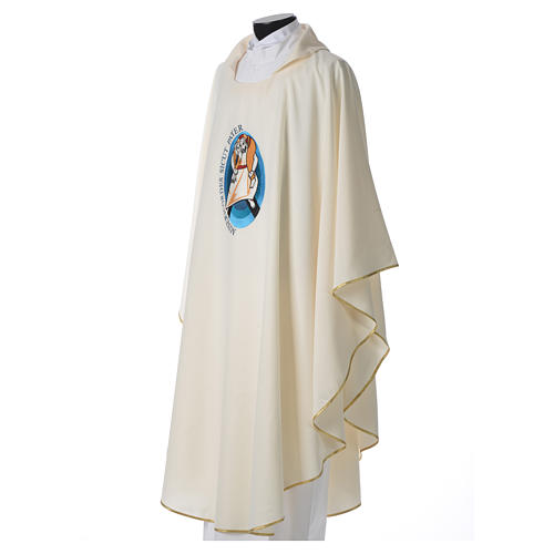 STOCK Pope Francis' Jubilee Chasuble with Latin writing 2